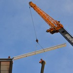Lifting steel beam for hospital in NWT